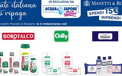 Acqua & Sapone Spendi 15€ riprendi 15€