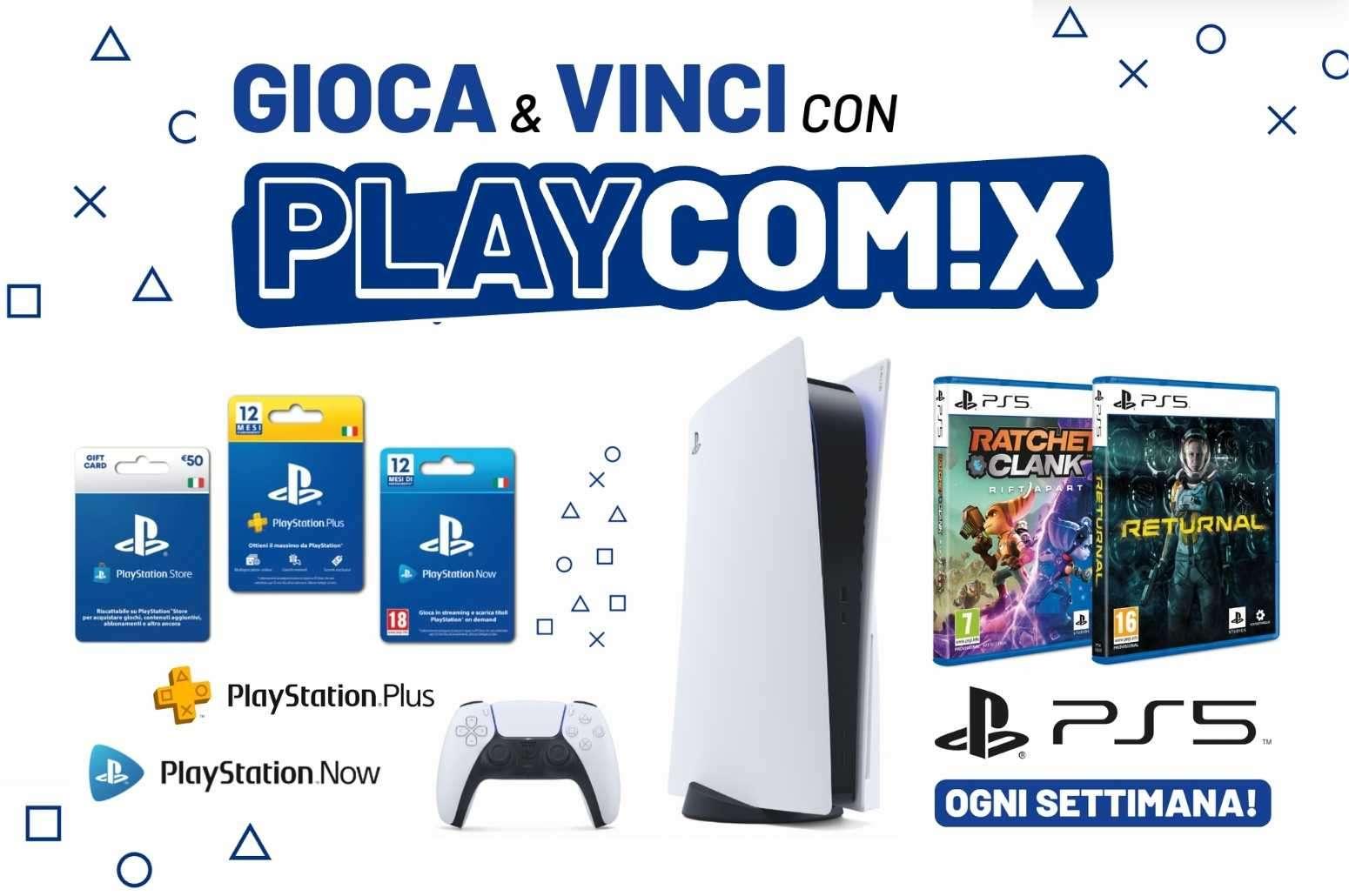Concorso PlayComix cinci una PS5 GosuMania Matteo-Recuperato