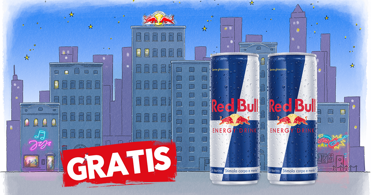 """Red Bull """"Party Delivery Game"""" 2 lattine Red Bull Energy Drink gratis GosuMania"""