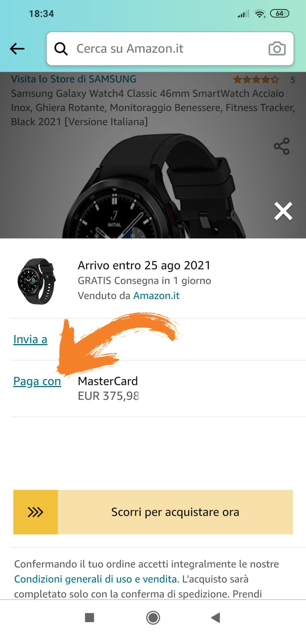 4 come applicare codice sconto su amazon, samsung galaxy watch4