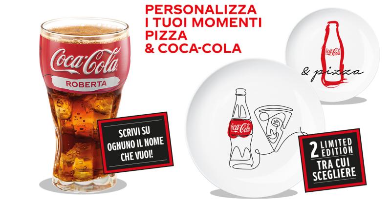 Concorso Coca Cola vinci il set di 6 Piatti Pizza e 6 Bicchieri Personalizzati GosuMania