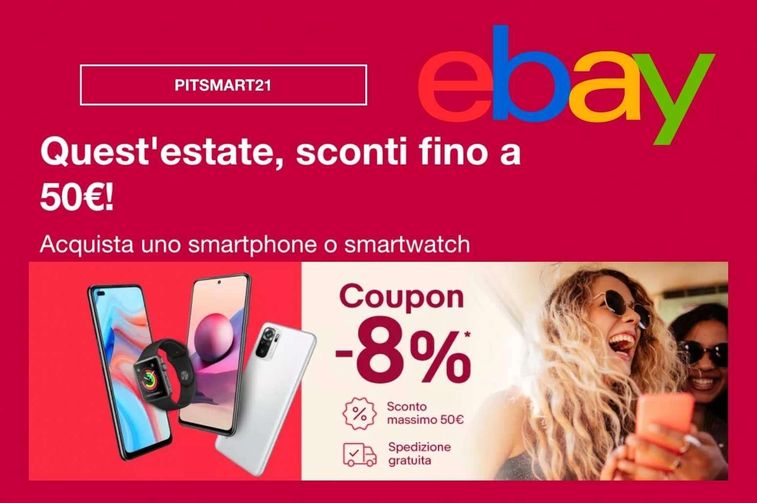Nuovo codice sconto ebay risparmia l'8% su Smartphone e Smartwatch già scontati GosuManiNuovo codice sconto ebay risparmia l'8% su Smartphone e Smartwatch già scontati GosuMania