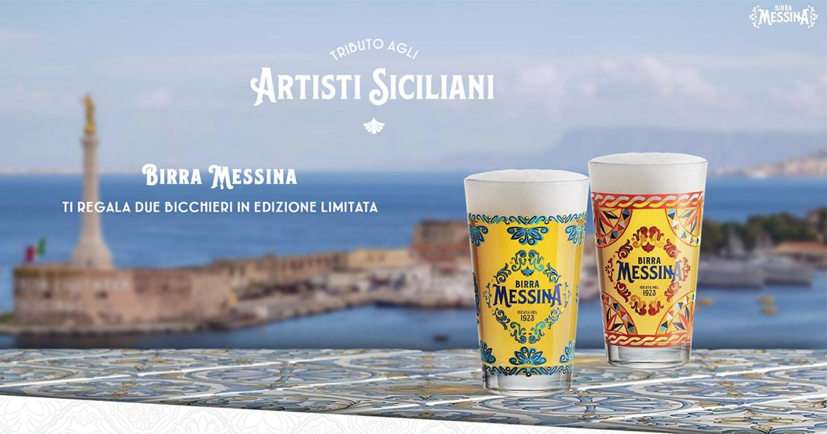 Birra Messina ti regala 2 Bicchieri Limited Edition ottienili in OMAGGIO GosuMania