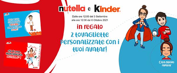 Con Nutella & Kinder vinci 2 tovagliette da colazione personalizzate