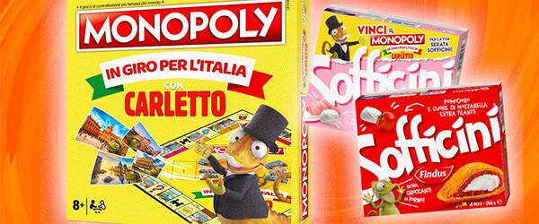 Serata Sofficini: Vinci l'esclusivo Monopoly di Carletto