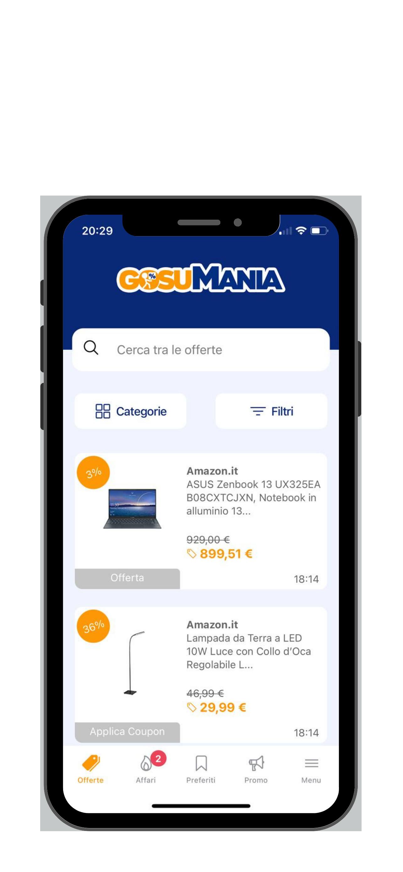 App cosumania Amazon sconto offerte codici coupon